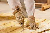 stock photo of glass-wool  - Man  - JPG