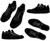 Sports Trainers Shoes Vector ...