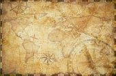 old nautical treasure map background poster