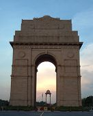 stock photo of rashtrapati  - the magnificent india gate in new delhi india - JPG