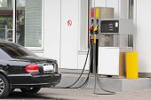 Car On The Petrol Pump
