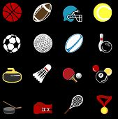 Conjunto de série de ícones de esportes