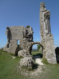 picture of stockade  - Corfe Castle photographed at Corfe Castle in Dorset - JPG