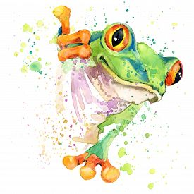 pic of cute frog  - Funny frog T - JPG