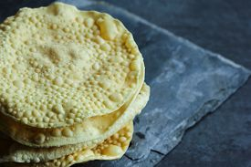 foto of urad  - Pappadam Indian cracker snack made with urad daal - JPG