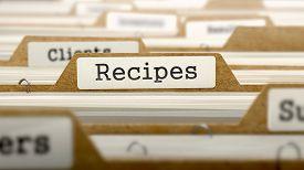picture of recipe card  - Recipes Concept - JPG
