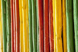 picture of reggae  - Painted bamboo canes with reggae colors - JPG