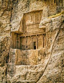 foto of zoroastrianism  - The tomb of Darius I the Great at Naqsh - JPG