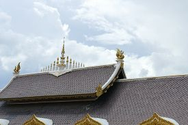 stock photo of apex  - the design of apex of asian temple roof architecture - JPG
