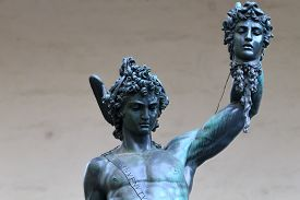pic of medusa  - Bronze sculpture Perseo with Medusa Florence Italy - JPG