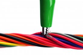 picture of tapping  - Tapped or hacked wire - JPG
