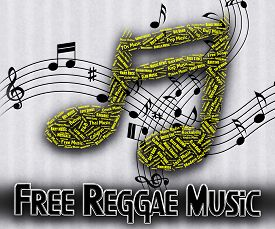 stock photo of reggae  - Free Reggae Music Meaning For Nothing And Gratis - JPG