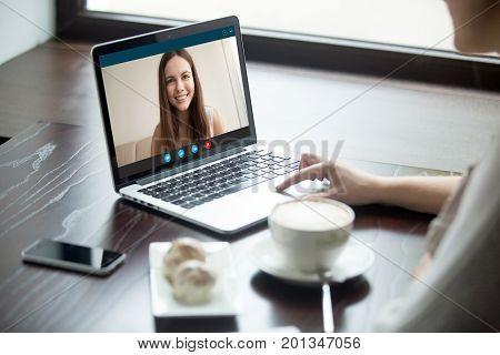 Woman making video