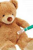 Teddy Bear with injection
