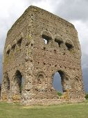 foto of gaul  - Part of the ruins of the old Roman Temple of Janus in Autun France - JPG