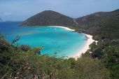 Hilltop View Of Jost Van Dyke In Bvi