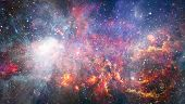 Nebula And Galaxies In Space. Elements Of This Image Furnished By Nasa. poster