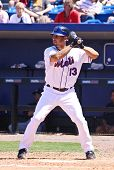 PORT ST. LUCIE, FLORIDA - MARCH 23: New York Mets infielder Alex Cora steps up to the plate during t
