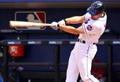 PORT ST. LUCIE, FLORIDA - MARCH 24: New York Mets first baseman Daniel Murphy hits a home run during