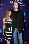 NEW YORK - APRIL 24: Rounder Records head John Virant and daughter Zoe attend