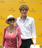 NEW YORK - JUNE 26: Actress Susan Sarandon and her son attend the Veuve Clicquot Polo Classic at Gov