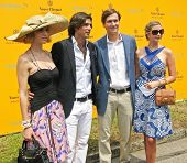NEW YORK - JUNE 27: Polo athlete Nacho Figueras, Jared Kushner and Ivanka Trump attend the 3rd annua