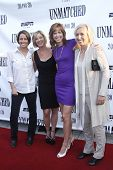 NEW YORK - AUGUST 26: Mary Carillo, Chris Evert, Hannah Storm and Martina Navratilova attend ESPN Fi