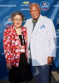 FLUSHING, NY - AUGUST 30: Former NY mayor David Dinkins and Joyce arrive at the 2010 US Open Tennis Opening Ceremony at the Billie Jean King National Tennis Center on August 30, 2010 in Flushing, NY.