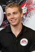 NEW YORK - SEPTEMBER 8: Patrick Kane of the Chicago Blackhawks attends the launch event for EA Sport