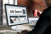 Job Search Businessman Human Online Job Resources Search Join Us Recruitment poster