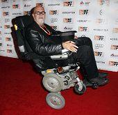 NUEVA YORK - el 10 de octubre: Artista Chuck Close, asiste a la Premier de