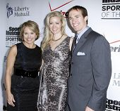 NEW YORK - NOVEMBER 30: Katie Couric, Brittany Brees and Drew Brees attend the Sports Illustrated Sportsman of the Year Awards at the IAC Building on November 30, 2010 in New York City.