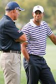 ORLANDO, FL - MARCH 23: Tiger Woods and caddy Steve Williams during the Arnold Palmer Invitational G