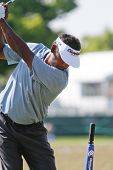 ORLANDO, FL - MARCH 23: Vijay Singh at the driving range during a practice round at the Arnold Palme