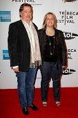 NEW YORK - APRIL 20: Geoff Gilmore and Nancy Schafer attend the opening night premiere of
