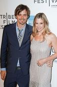 NEW YORK - APRIL 22: Mira Sorvino and husband Christopher Backus attend the 2011 TriBeCa Film Festiv