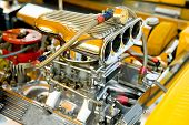 foto of dragster  - powerful hot - JPG