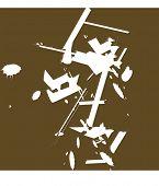 grunge element background vector