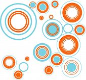 funky circles - bubbles modern colors