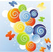 funky spirals with butterflies
