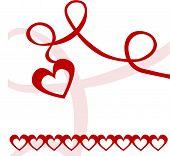 heart on a ribbon