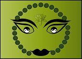 Постер, плакат: Будда лицо Инь и Ян 1 вектор