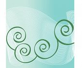 netting over teal with coils  vector