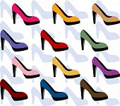 platform shoe vector