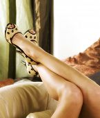 image of stripper shoes  - sexy legs - JPG