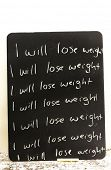 Resolution: I  will lose weight - repeated  lines