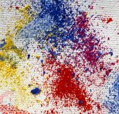 stock photo of stippling  - pastel chalk powders on white canvas - JPG