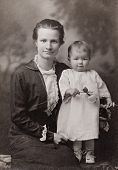 Mother and Child Antique Photograph