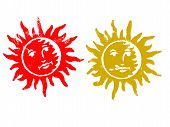 2 Grunge Sun Stamps