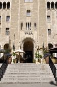 Jerusalem, Israel - JUNE 12: Jerusalem International YMCA, designed by Arthur Lewis Harman, was built in 1933. It is a city landmark that houses the beautiful Three Arches Hotel on June 12, 2007.